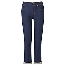 Buy Karen Millen Rinse Straight Jeans, Dark Denim Online at johnlewis.com