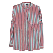 Buy Mango Striped Blouse, Dark Red Online at johnlewis.com
