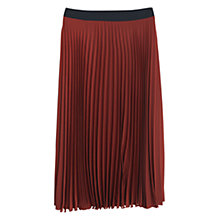 Buy Mango Pleated Skirt, Cognac Online at johnlewis.com
