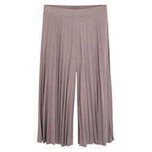Buy Mango Pleated Capri Trousers, Light Pastel Pink Online at johnlewis.com