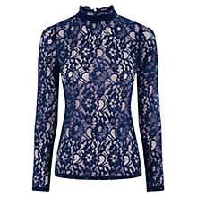 Buy Oasis Lace High Neck Top Online at johnlewis.com