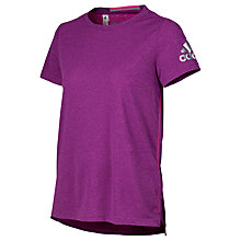 Buy Adidas Climachill Training T-Shirt, Purple Online at johnlewis.com