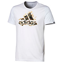 Buy Adidas Foil Logo Training T-Shirt, White Online at johnlewis.com