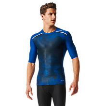 Buy Adidas Techfit Chill Graphic Training T-Shirt, Blue Online at johnlewis.com