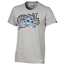 Buy Adidas Comics Logo T-Shirt, Grey Online at johnlewis.com