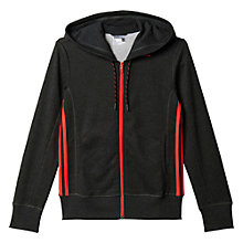 Buy Adidas Essentials Mid 3-Stripes Training Hoodie, Black Online at johnlewis.com