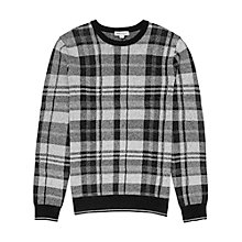 Buy Reiss Wallace Check Jumper, Grey Online at johnlewis.com
