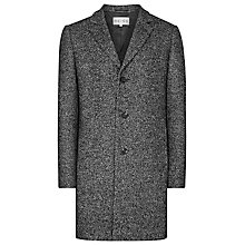 Buy Reiss Roberts Melange Weave Overcoat, Charcoal Online at johnlewis.com