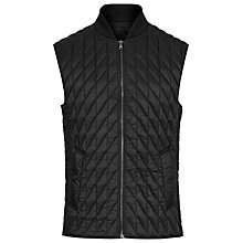 Buy Reiss Giles Quilted Gilet, Black Online at johnlewis.com