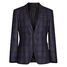 Buy Reiss Jagger Check Textured Blazer, Navy Online at johnlewis.com