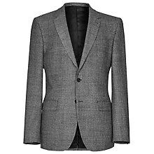 Buy Reiss Newman Melange Weave Blazer, Grey Melange Online at johnlewis.com