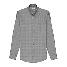 Buy Reiss Somerset Collar Bar Check Shirt, Grey Online at johnlewis.com
