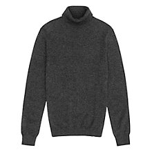 Buy Reiss Blackjack Cashmere Roll Neck Jumper, Charcoal Online at johnlewis.com