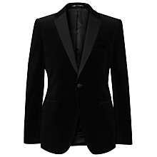 Buy Reiss Maximus Velvet Blazer, Black Online at johnlewis.com