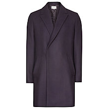 Buy Reiss Ballad Tonal Check Overcoat, Navy Online at johnlewis.com