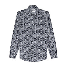Buy Reiss Kranser Tonal Dot Slim Fit Shirt, Navy Online at johnlewis.com