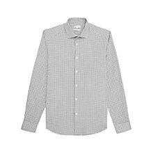Buy Reiss Maguire Tonal Houndstooth Shirt, Grey Online at johnlewis.com
