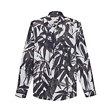 Buy Reiss Strelitizia Print Slim Fit Shirt, White/Black Online at johnlewis.com