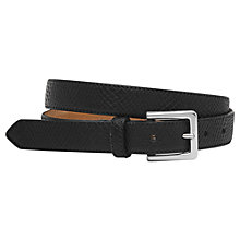 Buy Reiss Eton Textured Leather Belt, Black Online at johnlewis.com