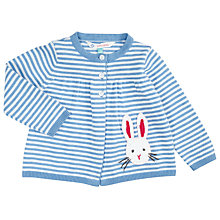 Buy John Lewis Baby Stripe Rabbit Cardigan, Blue/White Online at johnlewis.com