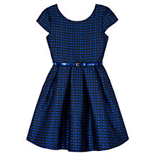 Buy Yumi Girl Daisy Jacquard Dress, Blue Online at johnlewis.com