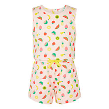 Buy John Lewis Girls' Fruit Print Playsuit, Multi Online at johnlewis.com