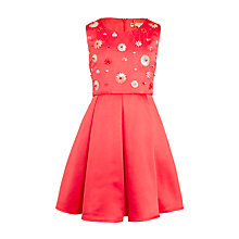 Buy John Lewis Heirloom Collection Girls' Satin Embellished Dress, Coral Online at johnlewis.com