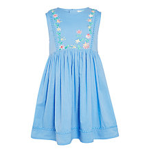 Buy John Lewis Girls' Embroidered Dress, Aqua Online at johnlewis.com