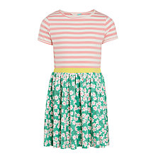 Buy John Lewis Girls' Floral Jersey Dress, Multi Online at johnlewis.com