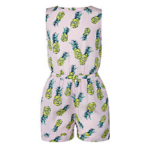 Buy John Lewis Girls' Woven Pineapple Playsuit, Lilac Online at johnlewis.com