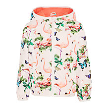 Buy John Lewis Girls' Flamingo Print Mac, Multi Online at johnlewis.com