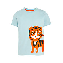Buy Donna Wilson for John Lewis Tiger Print T-Shirt, Blue Online at johnlewis.com