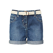 Buy John Lewis Girls' Shorts, Denim Blue Online at johnlewis.com