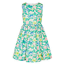 Buy John Lewis Girls' Floral Print Prom Dress, Green Online at johnlewis.com