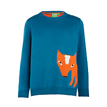 Buy Donna Wilson for John Lewis Fox Jumper, Blue Online at johnlewis.com