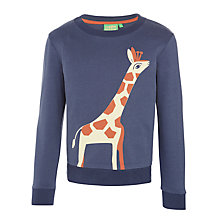 Buy Donna Wilson for John Lewis Giraffe Print Sweatshirt, Navy Online at johnlewis.com