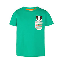 Buy Donna Wilson for John Lewis Badger Pocket T-Shirt, Green Online at johnlewis.com