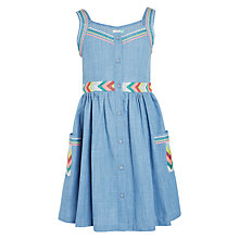 Buy John Lewis Girls' Button Through Chambray Dress, Blue Online at johnlewis.com