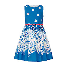 Buy John Lewis Girls' Floral Prom Dress, Blue Online at johnlewis.com