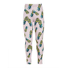Buy John Lewis Girls' Pineapple Print Leggings, Pink Online at johnlewis.com