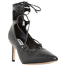 Buy Dune Bradey Lace up Stiletto Court Shoes Online at johnlewis.com