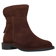 Buy Carvela Ted Low Heeled Ankle Boots, Brown Suede Online at johnlewis.com