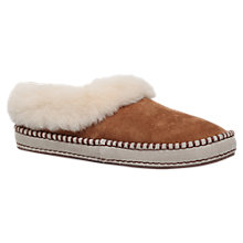Buy UGG Wrin Sheepskin Slippers, Brown Suede Online at johnlewis.com