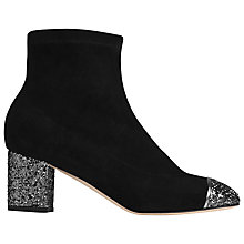 Buy L.K. Bennett Kelly Block Heeled Ankle Boots, Pewter Suede Online at johnlewis.com