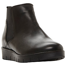 Buy Dune Paden Ankle Boots, Black Leather Online at johnlewis.com