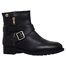 Buy Carvela Samuel Low Heel Biker Boots, Black Leather Online at johnlewis.com