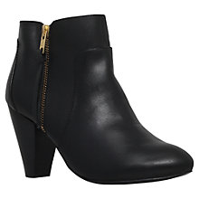 Buy Carvela Tiffany High Heeled Ankle Boots, Black Leather Online at johnlewis.com
