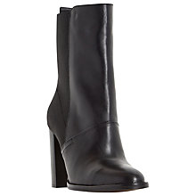Buy Dune Pembleton Block Heeled Calf Boots, Black Leather Online at johnlewis.com