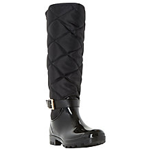 Buy Dune Thunder Quilted Wellington Boot, Black Online at johnlewis.com