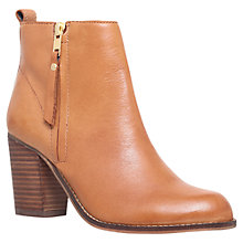Buy Carvela Tanga Block Heeled Ankle Boots, Tan Online at johnlewis.com